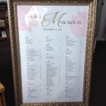 Custom designed Seating Charts for your reception