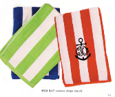 cabana stripe towels w99
