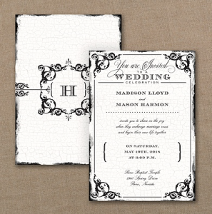 antique filigree invitation
