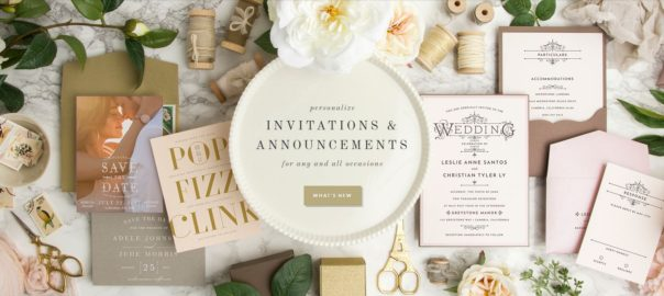 Custom Invitations, Personalized Gifts and Accessories